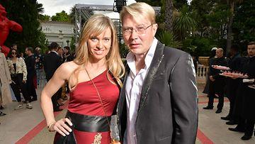 Mika Häkkinen ja Marketa Remesova Cannesissa 16.5.2018