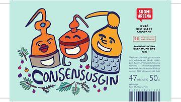 Consesnus gin logo SuomiAreena