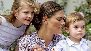 Victorian syntymäpäivä Sollidenissa 14.7.2018 Estelle, Victoria ja Oscar