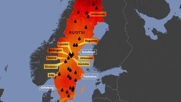 Video Nayttaa Ruotsin Liekkimeret Metsapalot Leviavat
