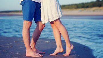 kesä, rakkaus, ranta, pariskunta