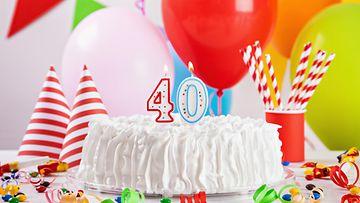 syntymäpäiväkakku, 40-vuotias