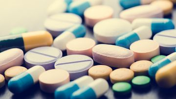 lääkkeet, käsi, lääkäri