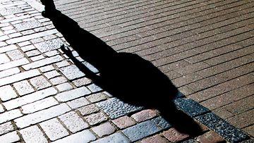 Masennus, yksinäisyys, varjo, katu, jalankulkija, AOP