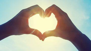 rakkaus, sydän, kädet