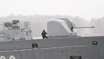 AOP Merivoimat kuvitus laiva