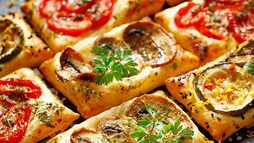 lehtitaikina pizza