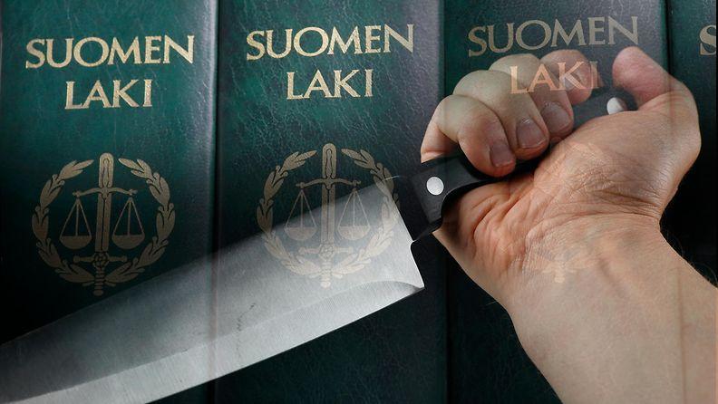 AOP Väkivalta pahoinpitely puukko veitsi tappo oikeus laki 1.03810680
