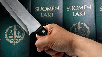 AOP Väkivalta pahoinpitely puukko veitsi tappo oikeus laki 1.03810679