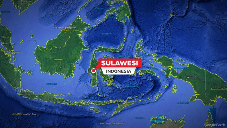 sulawesi indonesia kartta