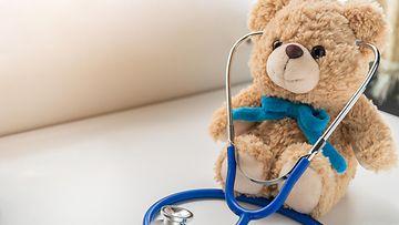 nalle, lelu, lääkäri, stetoskooppi