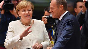 Angela Merkel ja Donald Tusk