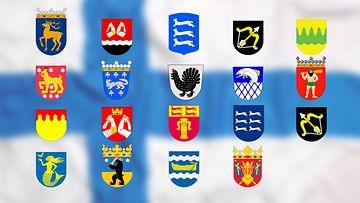 Suomen maakuntien vaakunat