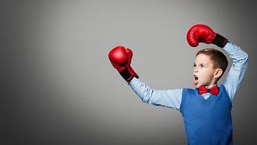 lapsi, nyrkkeily