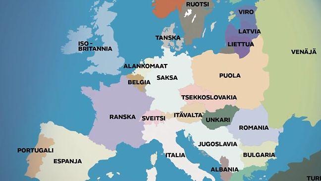 Euroopan Rajoja On Piirretty Uusiksi Verella Ja Teraksella