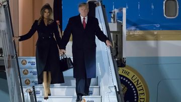 donald trump melania trump pariisi air force one