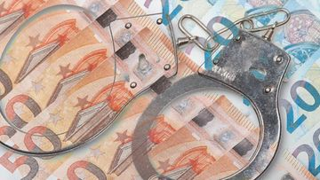 raha rikos rikollisuus kuvitus