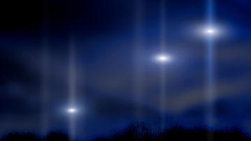 ufo kuvitus kirkkaat valot
