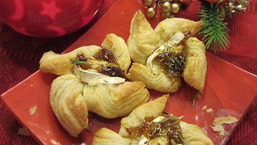suolaiset jouluortut, Mozzarella-viikunajoulutortut