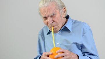 mies, appelsiini