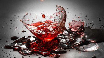 viinilasi, rikki