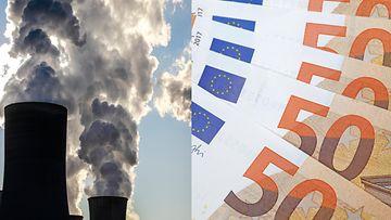 ilmastonmuutos raha talous kuvitus