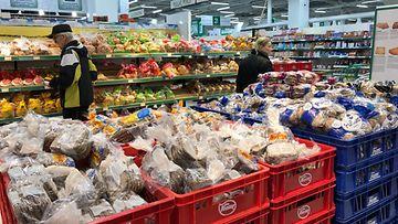 kauppa, leipä, leipäosasto