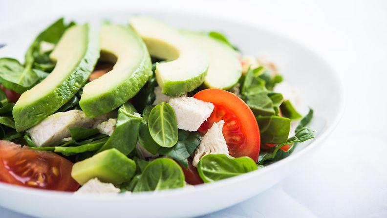 ruoka, ruokavalio, salaatti, avokado