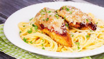 broileri juusto spagetti