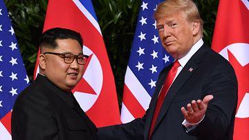 Pohjois-Korea Donald Trump ja Kim Jong Un USA