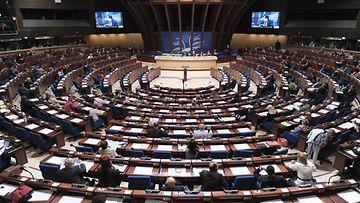 Kuvaa Euroopan neuvoston kokouksesta Strasbourgissa Ranskassa kesäkuussa 2013.