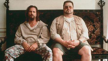 """Big Lebowski 1998 Jeffrey """"The Dude"""" Lebowski (Jeff Bridges) ja Walter Sobchak (John Goodman)"""