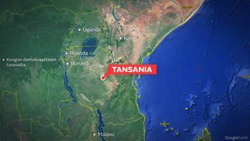 tansania kartta