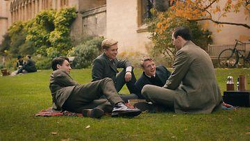 Tolkien 2019 pressikuva 4 Anthony Boyle, Tom Glynn-Carney, Patrick Gibson ja Nicholas Hoult