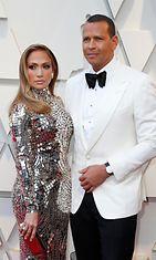 Jennifer Lopez ja Alex Rodriguez Oscar-gaala punainen matto 25.2.2019