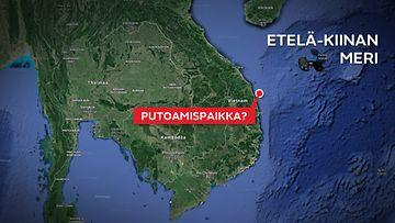 MH370-mahdollinen putoamispaikka