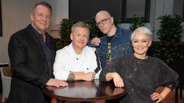 The Voice of Finland -tuomarit joulukuu 2017: Redrama, Olli Lindholm, Anna Puu, Toni Wirtanen