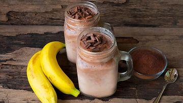 banaani smoothie suklaa