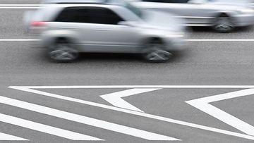 auto, ohitus, autotie