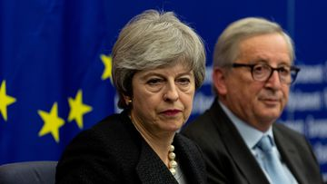 Theresa May Jean-Claude Juncker EPA