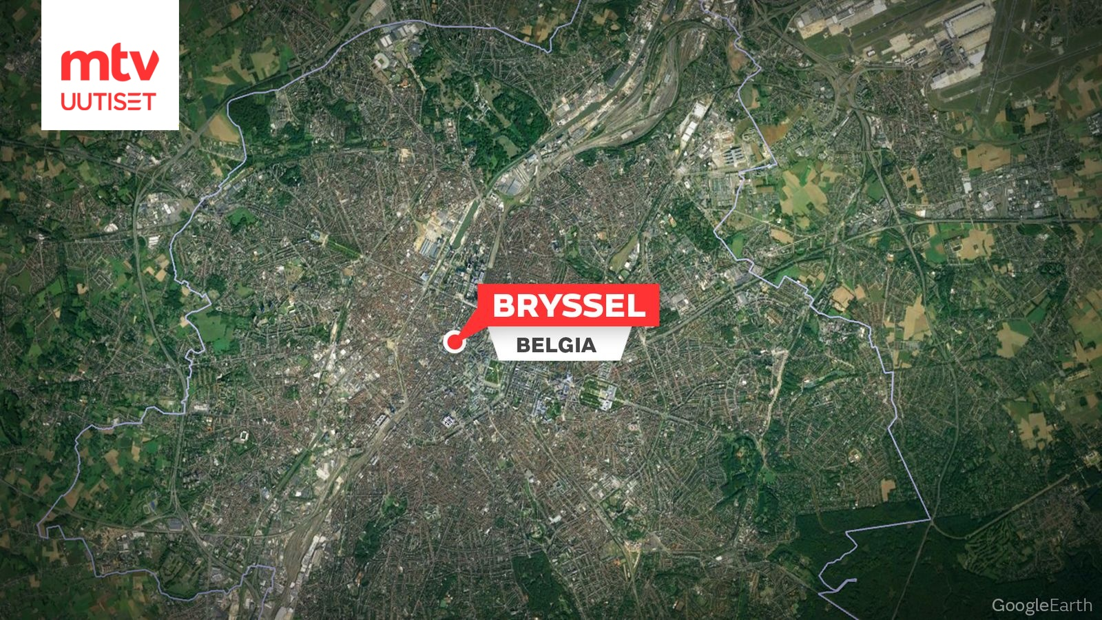 Pommiuhka Brysselin Eu Korttelissa Aluetta Eristetty