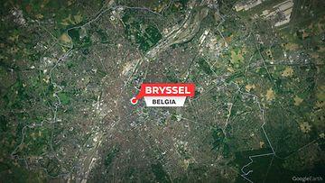 Bryssel Belgia Kartta