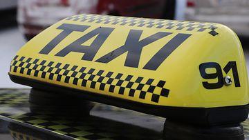AOP Taksi taxi kuvituskuva