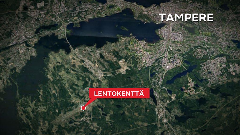 Pienkone Teki Hatalaskun Tampereella Kaksi Henkiloa Kyydissa
