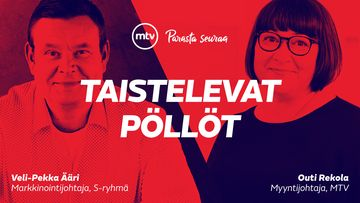 Taistelevat pöllöt -artikkelisarjan keskustelija Veli-Pekka Ääri ja Outi Rekola.