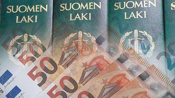laki, oikeus, raha, euroja