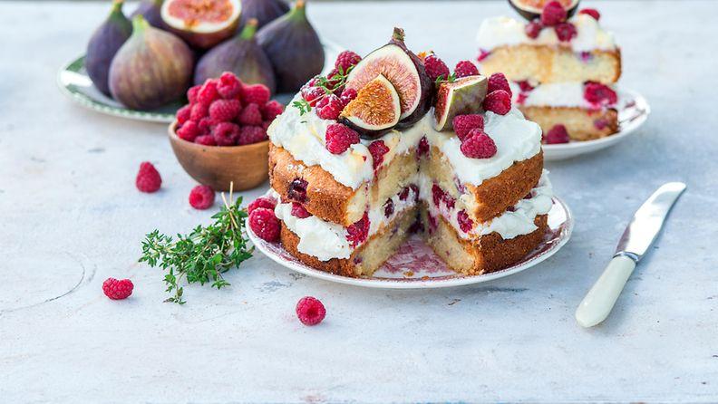 timjami kakku täytekakku viikuna