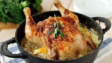 kokonainen broileri uunibroileri kana