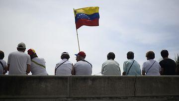 Oppositio osoitti mieltään Venezuelassa 1.5.2019.