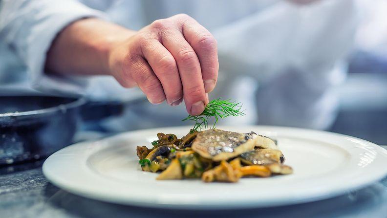 Ravintola fine dining ruoka kokki